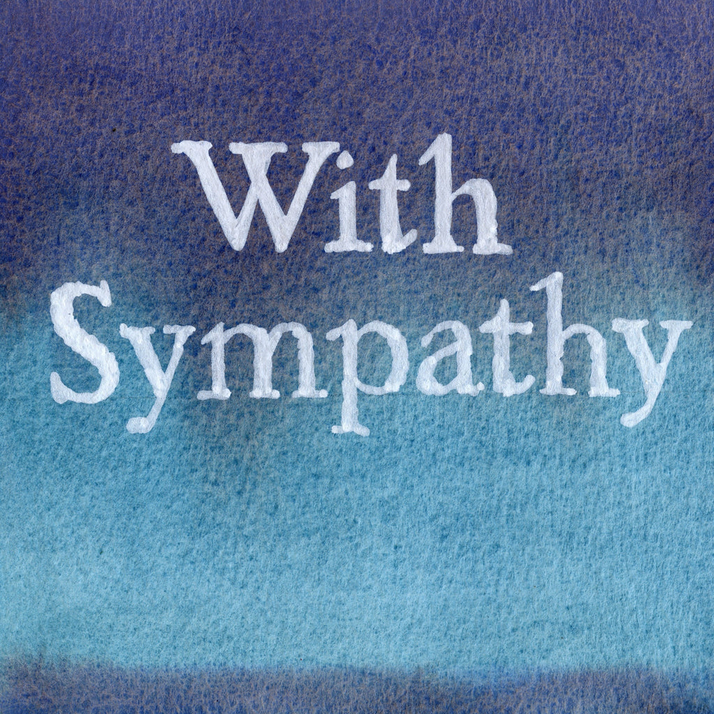 """With Sympathy"" In Indigo Lazuli  Colour Wash Series AB7"