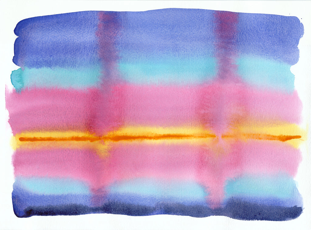 'SunDown 1' Original Abstract Watercolour Painting