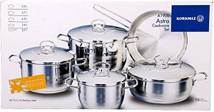 Korkmaz Astra Cookware Set of 9 Pieces A1900