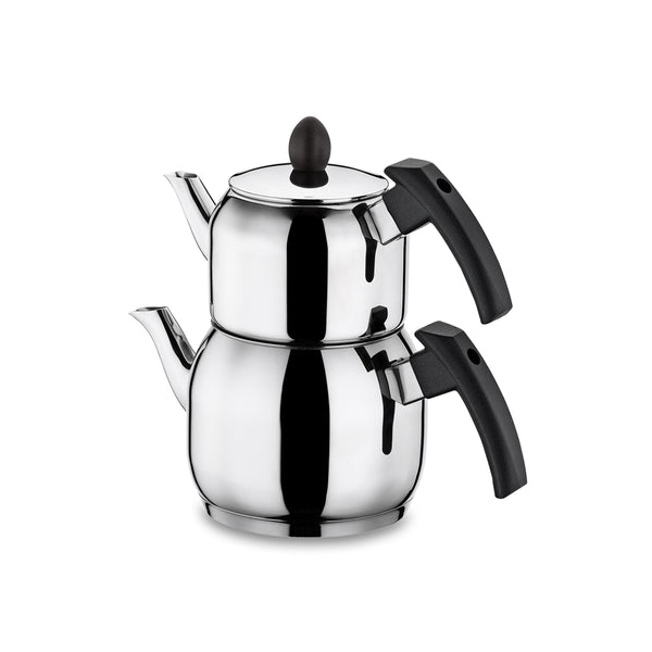 HISAR NEPTUN TEA POT SET -BLACK-BIG