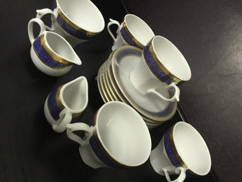 Ensemble théière Porcelaine/Gold-Royal