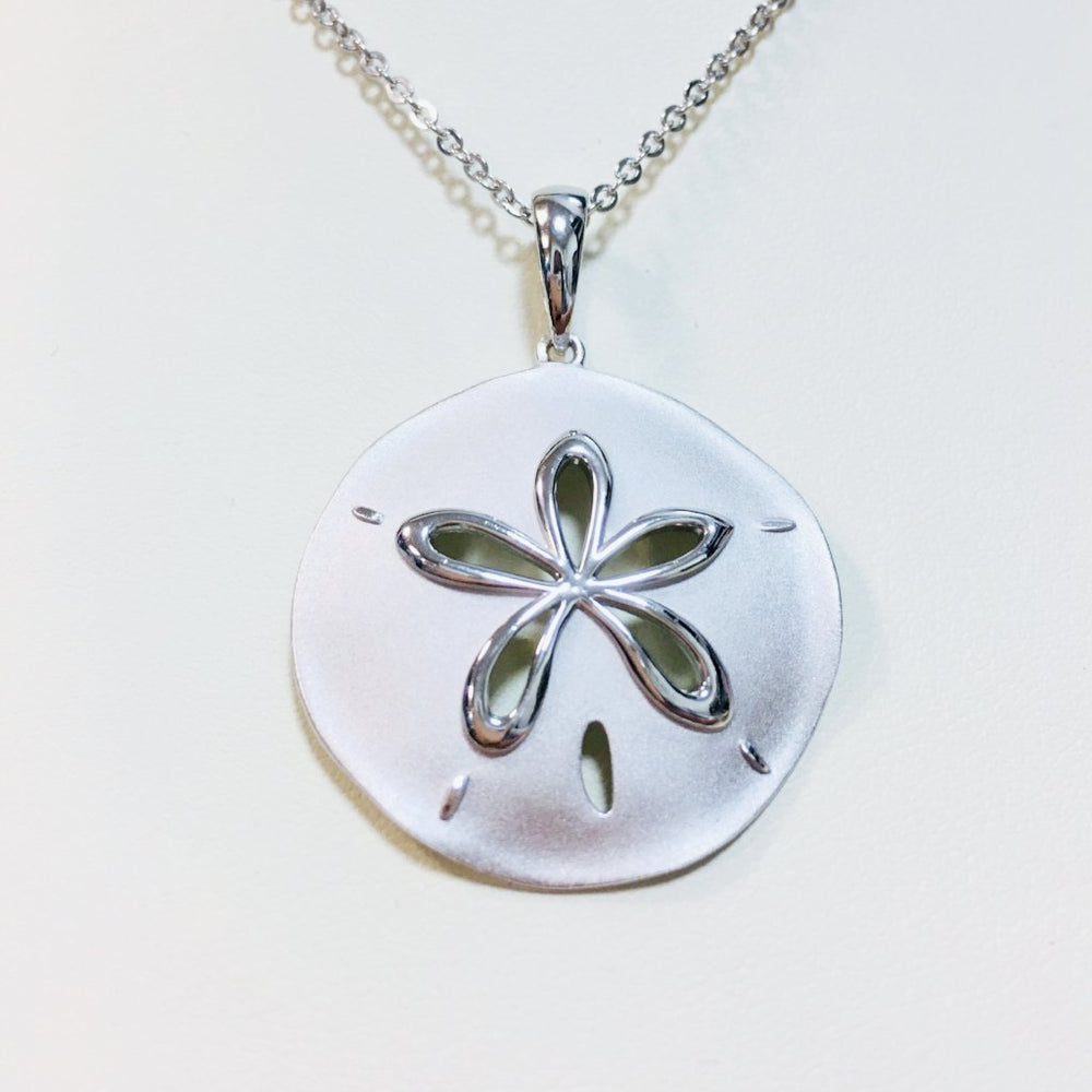 Sterling Silver Sand Dollar Necklace - Alamea