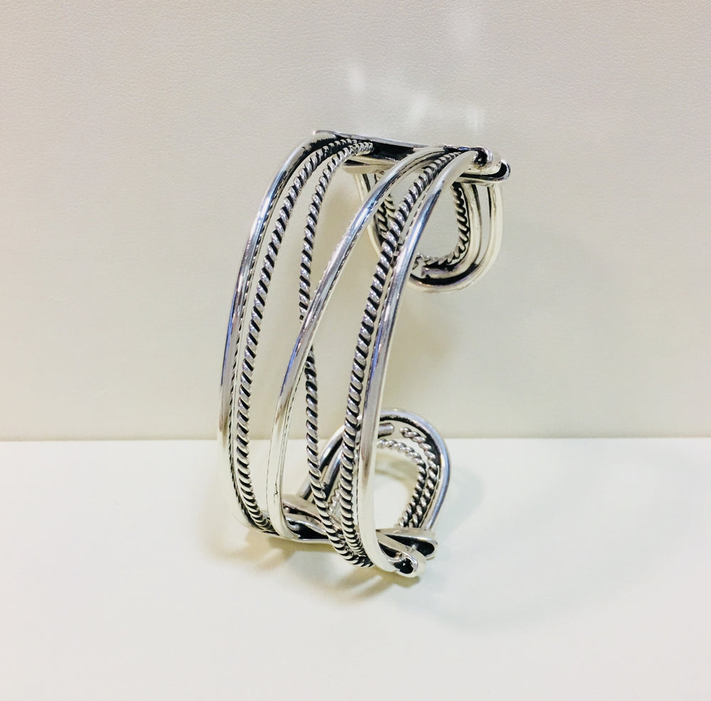 Open Rope cuff - Mexico Sterling Silver
