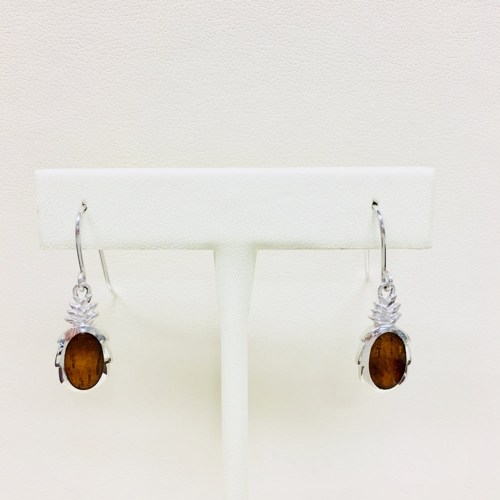 Koa Wood Pineapple Earrings - Alamea