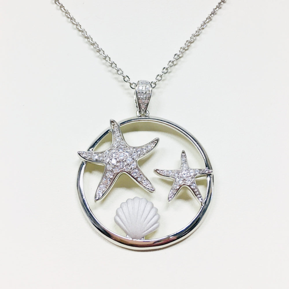 Starfish and Seashell Necklace - Alamea