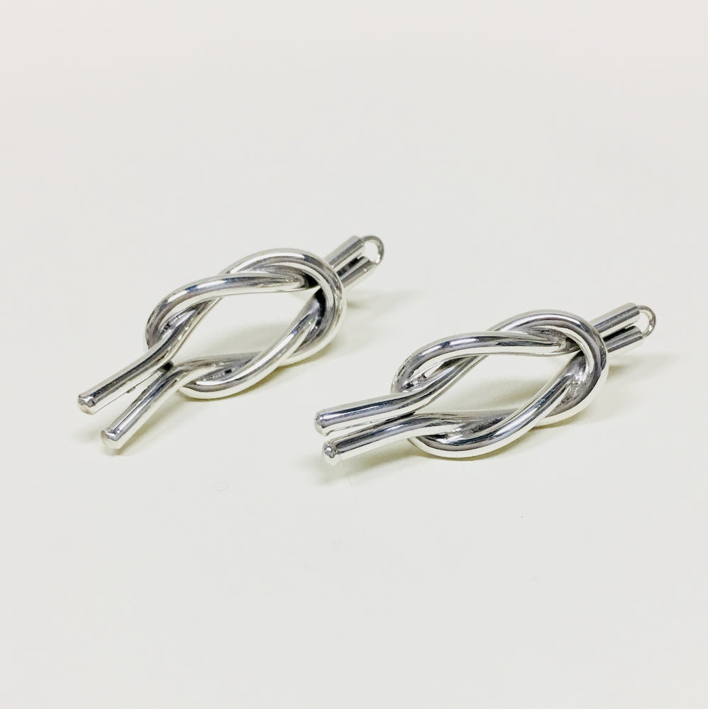 Square Knot Earrings - Mexico Silver