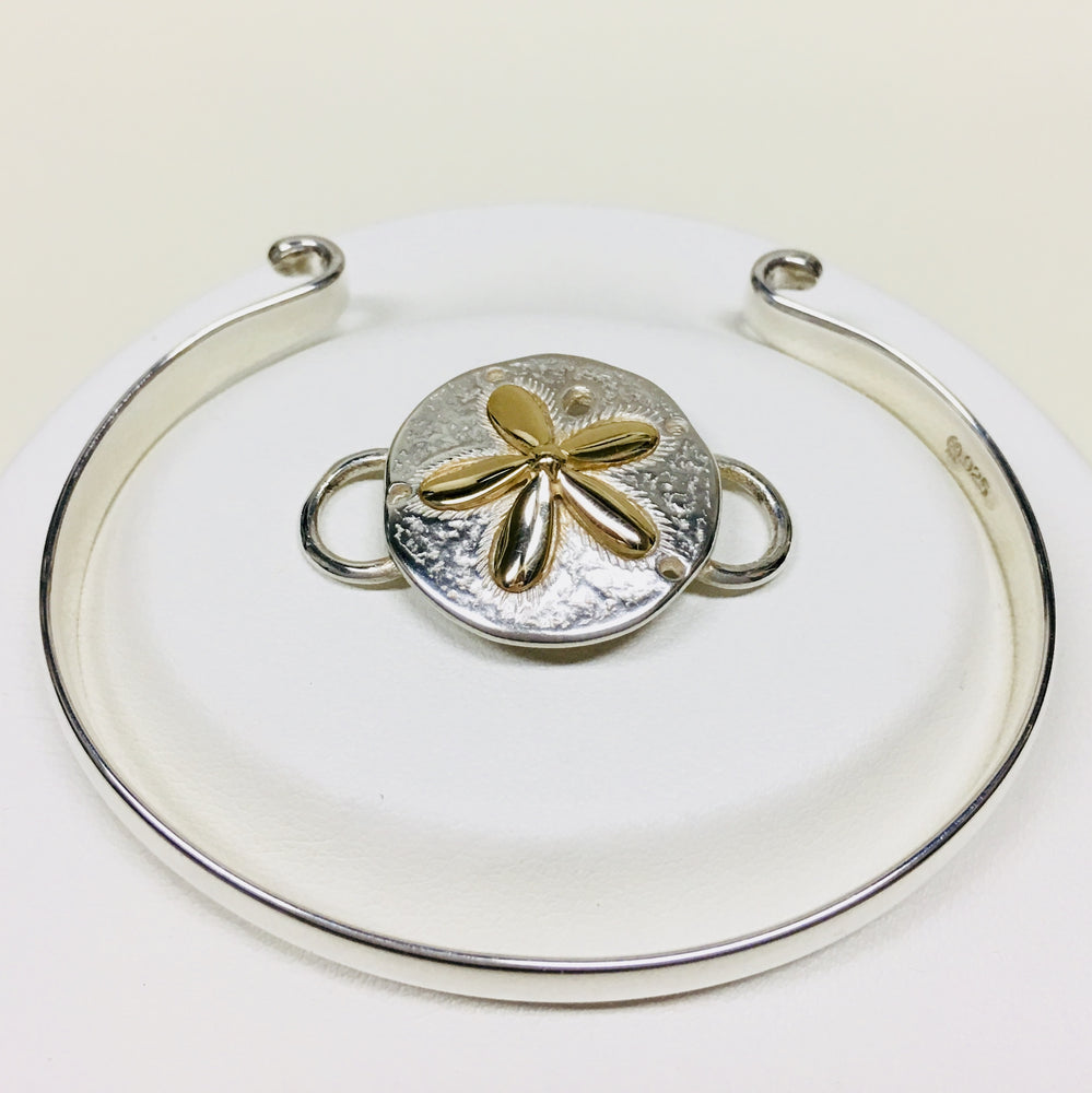 LeStage Sand Dollar Clasp - Sterling Silver and 14K Gold