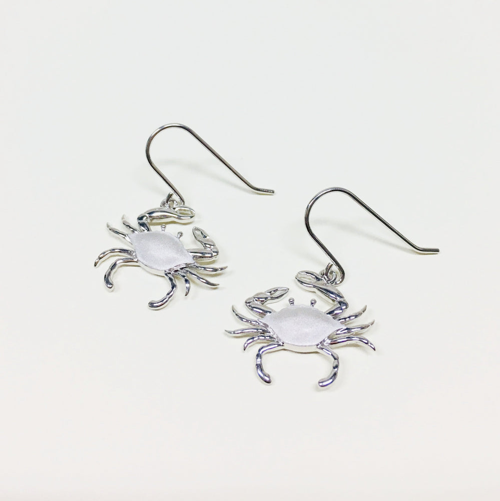 Silver Crab Earrings - Alamea