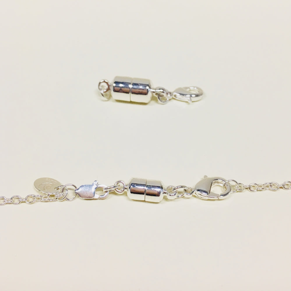 Large and Small Silver Magna Clasps