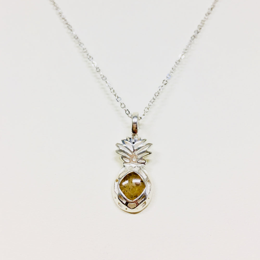 Sterling Shaped Pineapple Necklace