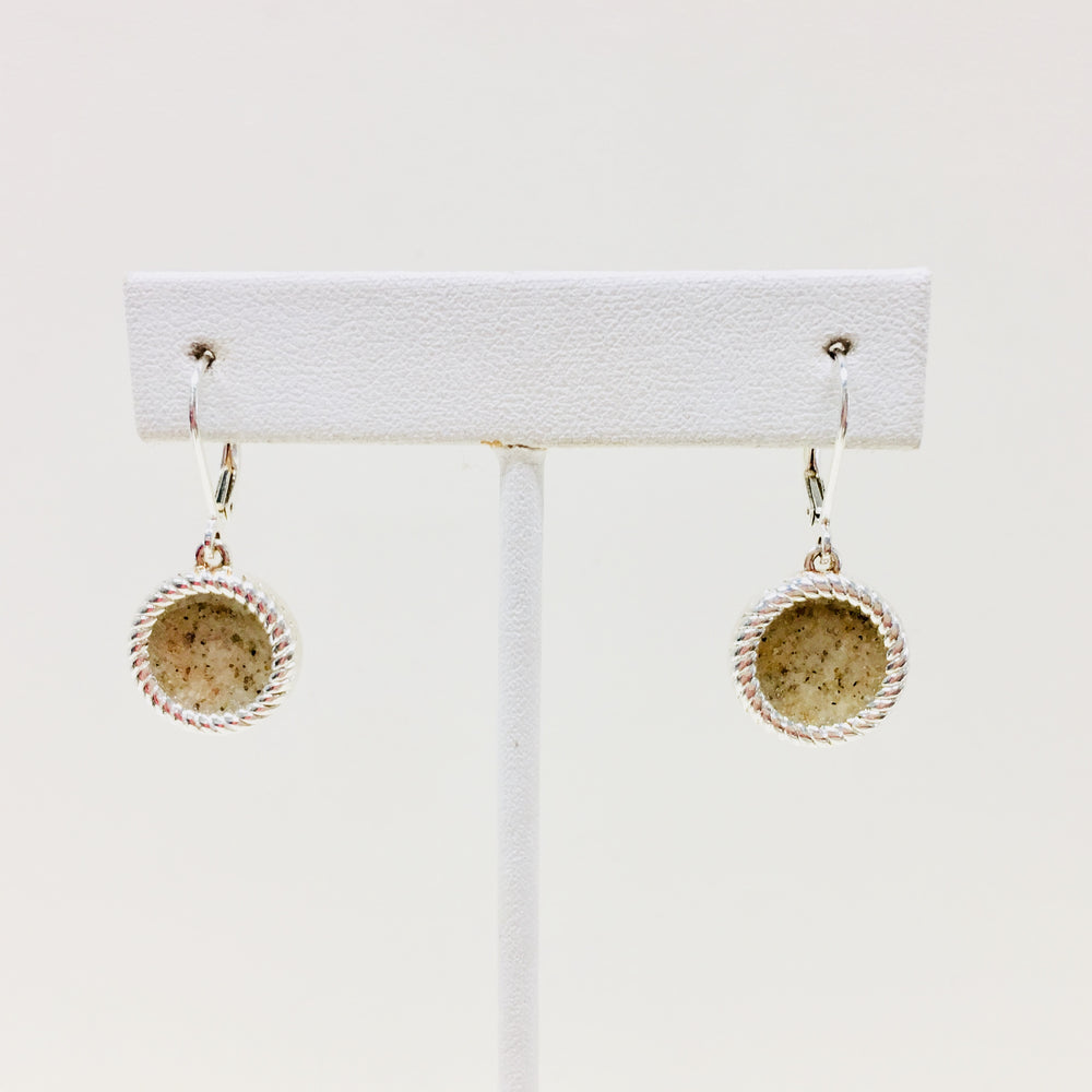 Rope Leverback Earrings OBX Sand