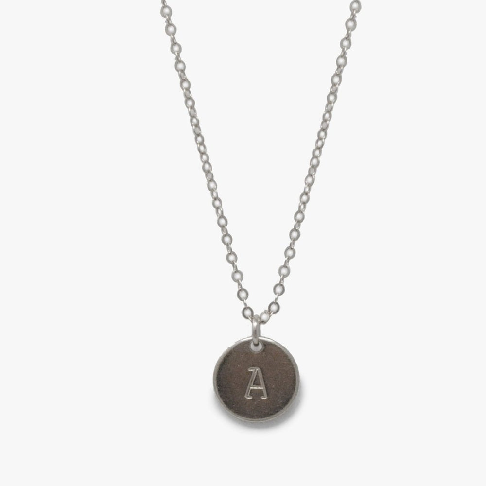Mini Tag Initial Necklace - Able Jewelry