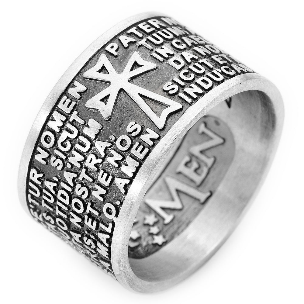 Lord's Prayer Ring - Latin Size 9