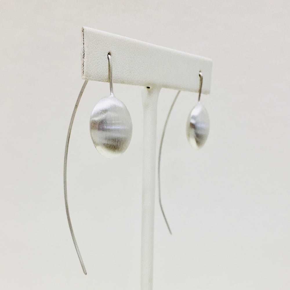 Long Wire Button Earrings