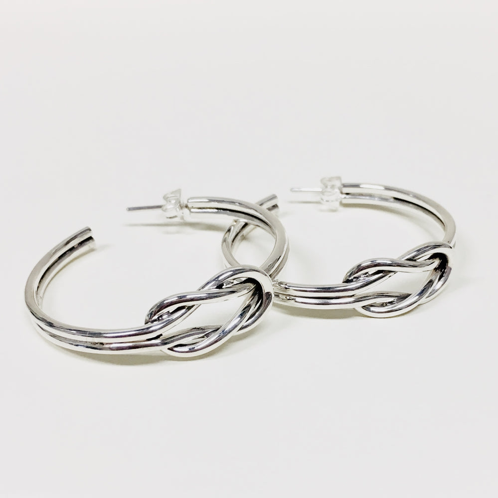 Square Knot Hoops