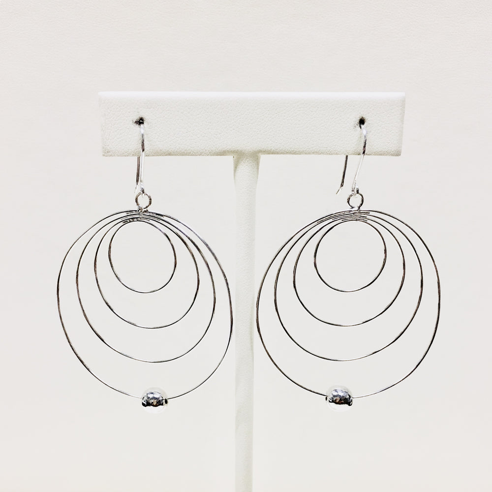 Offset Circle Wire Earrings