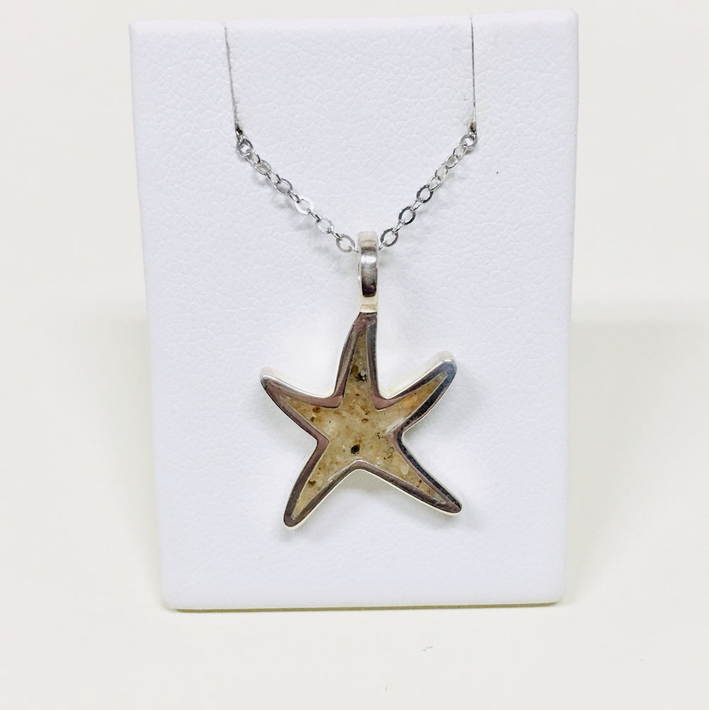 Delicate Starfish Necklace - Outer Banks Sand