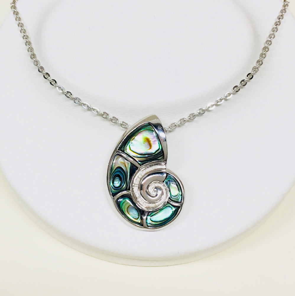 Abalone Nautilus Shell Necklace