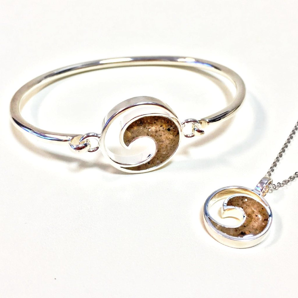 Dune Jewelry Sterling Wave Bracelet and Necklace