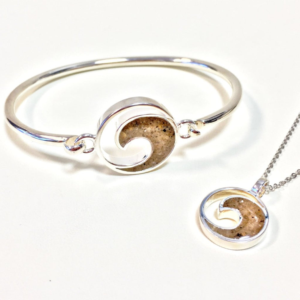 Dune Jewelry Sterling Wave Necklace and Bracelet