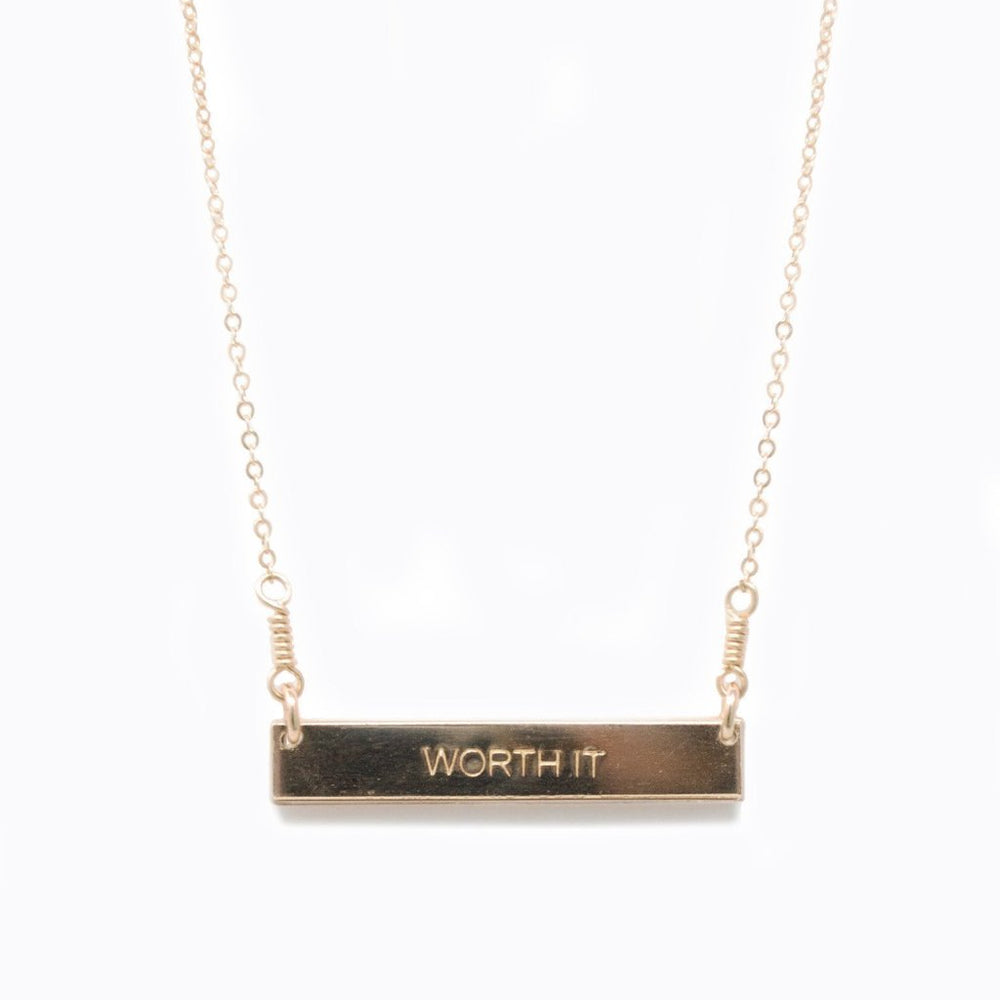 Worth It Necklace - Gold