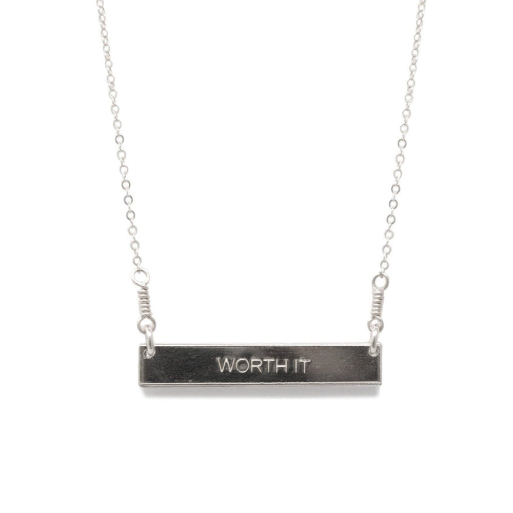 Worth It Necklace - Silver