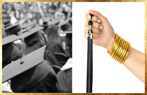Gold All Weather Bangles as a Graduation Gift   BuDhaGirl