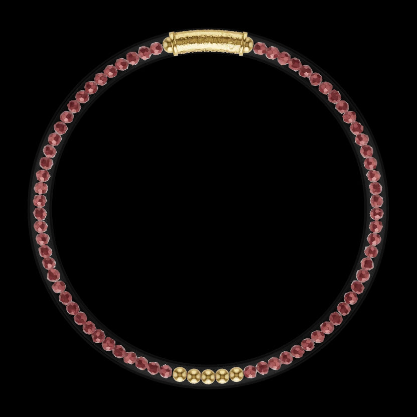 3D Model of Luxe All Weather Bangle - Red Garnet| BuDhaGirl