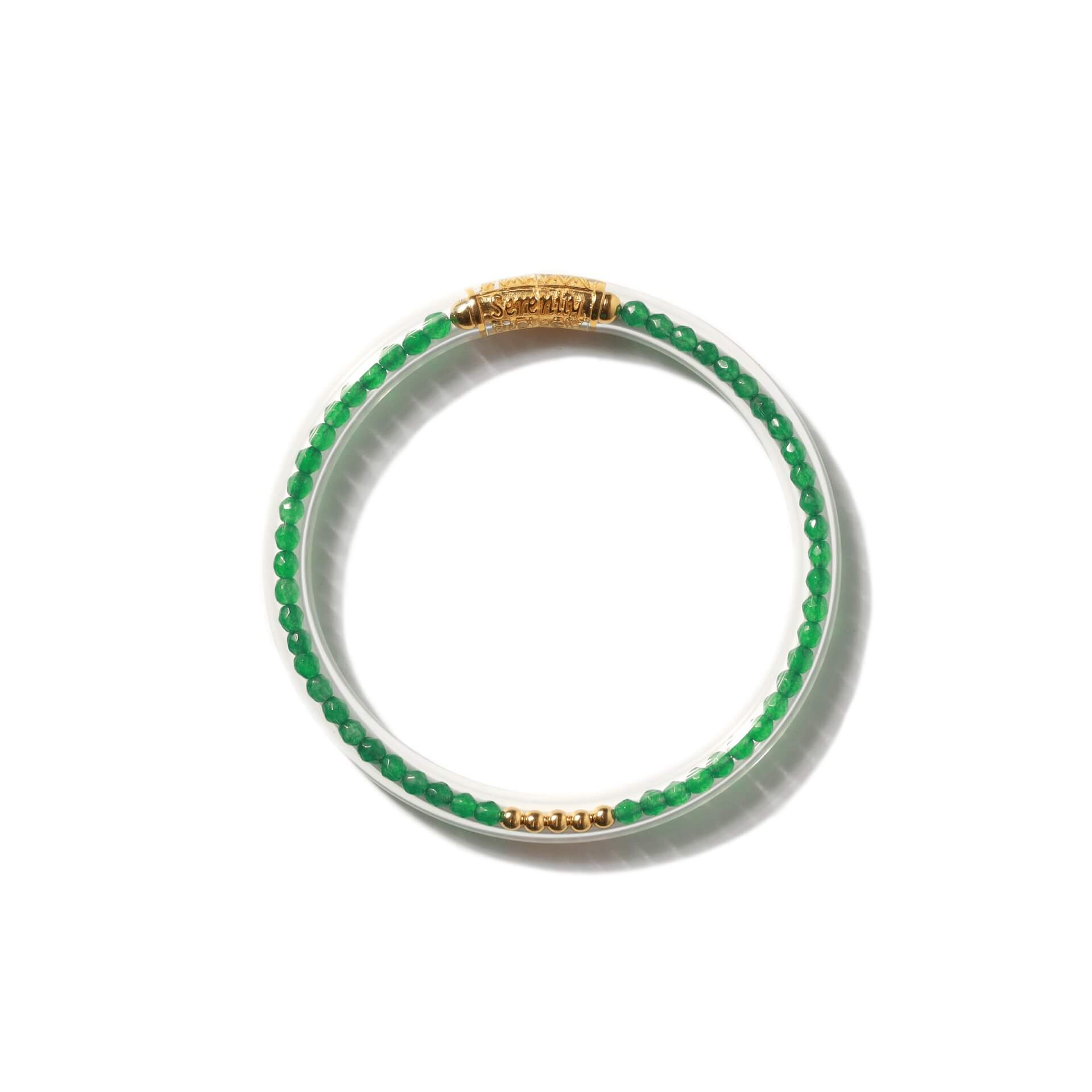 Luxe All Weather Bangle - Green Onyx | BuDhaGirl