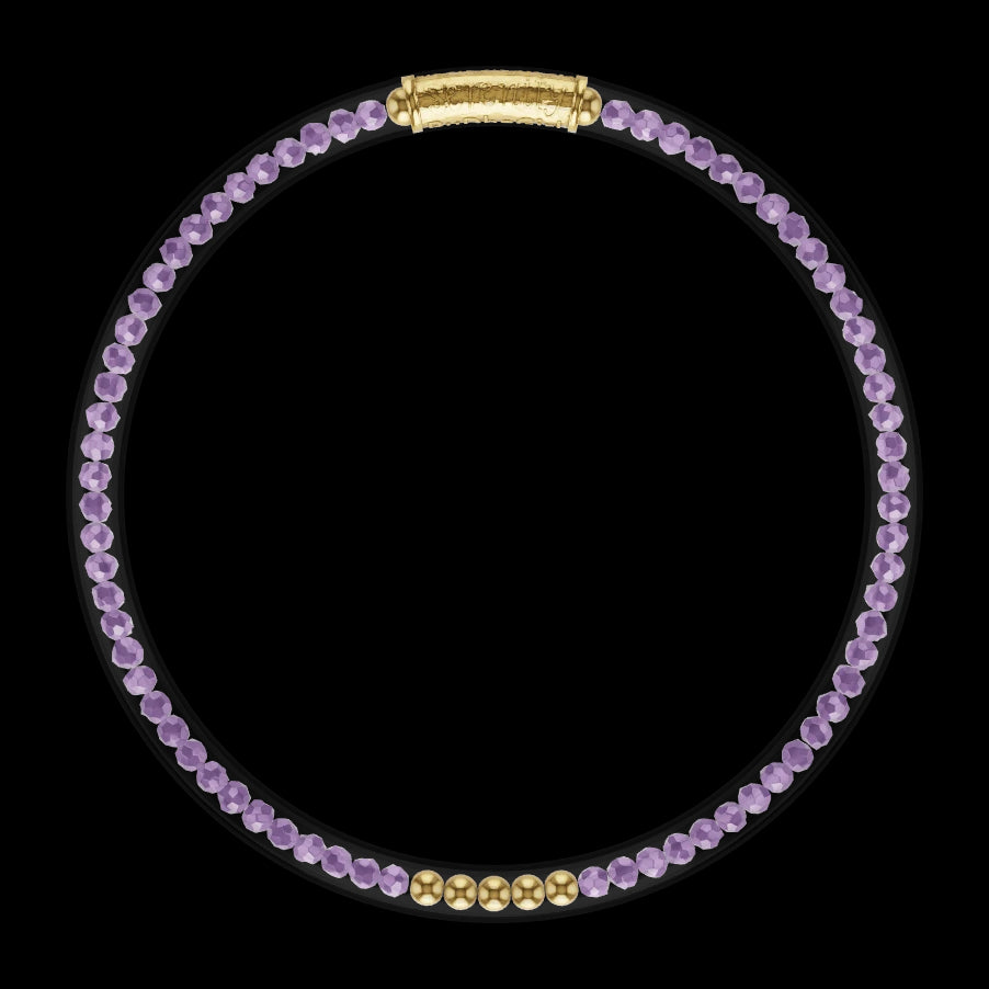3D Model of Luxe All Weather Bangle - Amethyst | BuDhaGirl