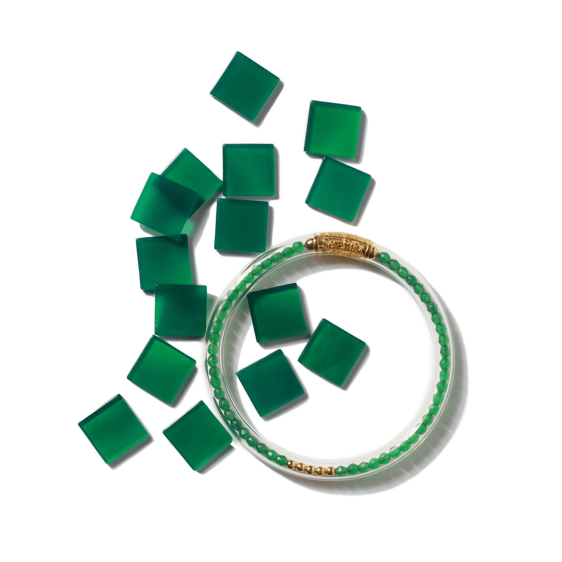 Luxe All Weather Bangles - Green Onyx | BuDhaGirl