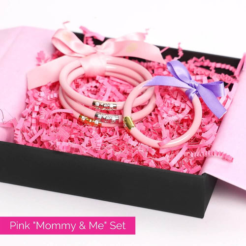 Pink Three Kings All Weather Bangles and pink baby bangle bundle for mother's day 2021 | BuDhaGirl