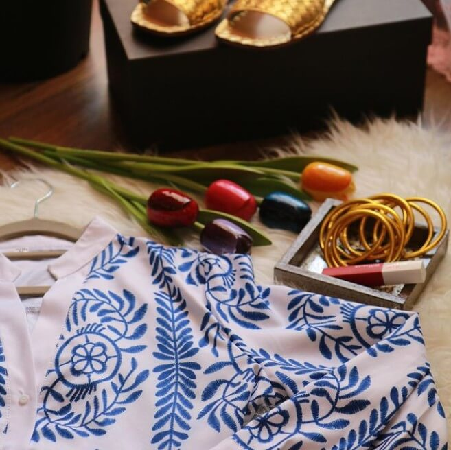New Clothes, Lipstick, Flowers, Footwear and BuDhaGirl Gold All Weather Bangles given as gifts for Eid | BuDhaGirl