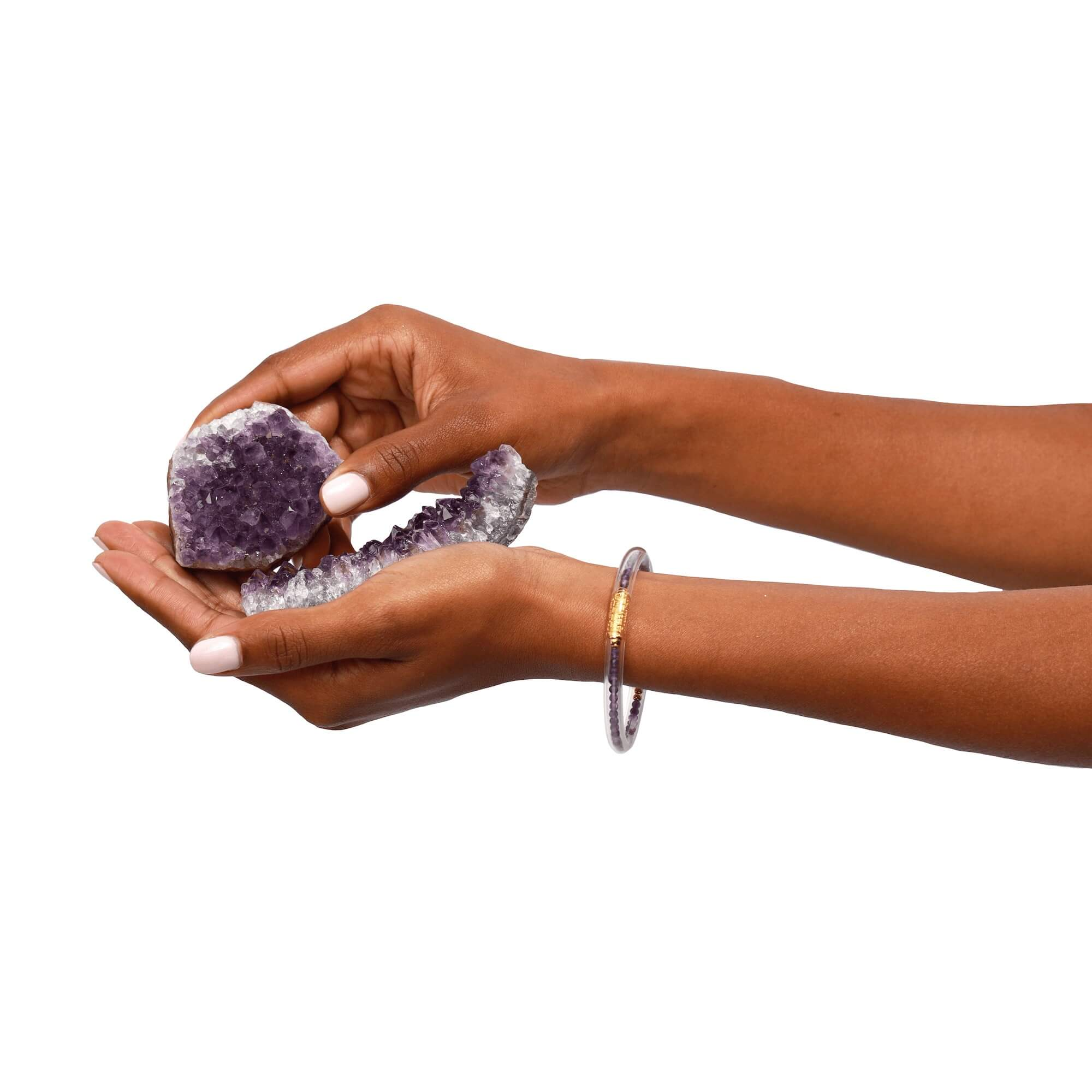 Luxe All Weather Bangles - Amethyst   BuDhaGirl