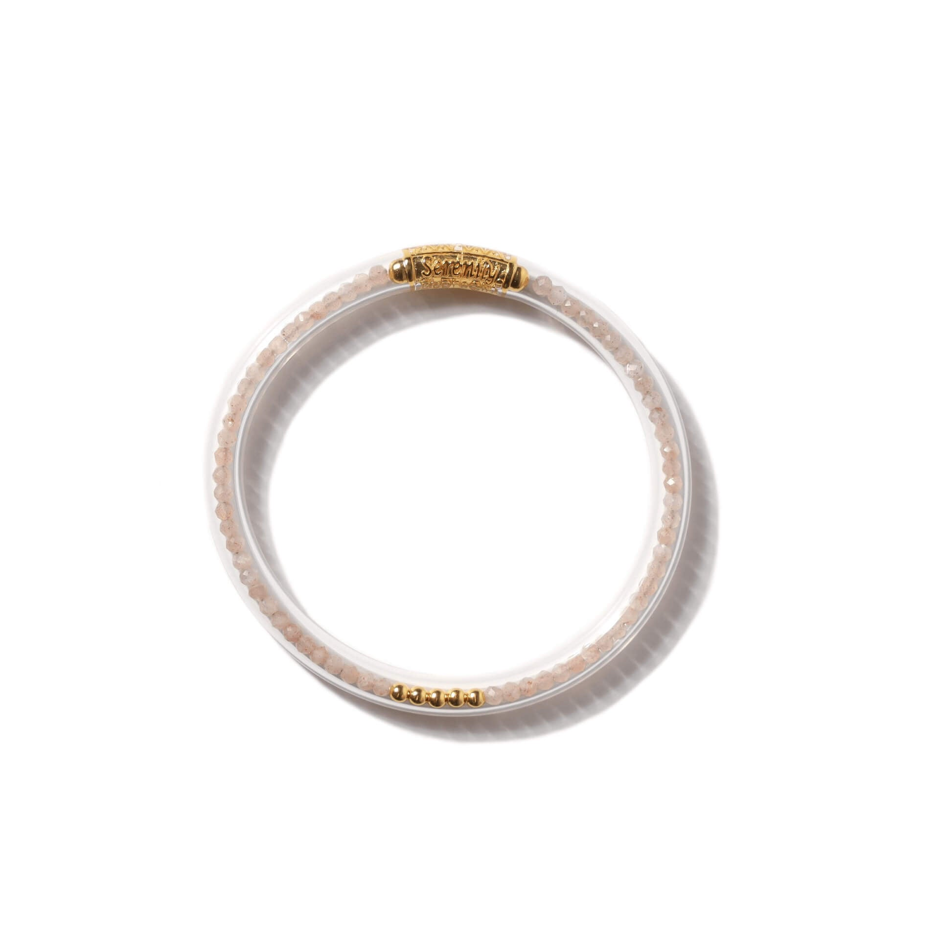 Luxe All Weather Bangle - Peach Moonstone | BuDhaGirl