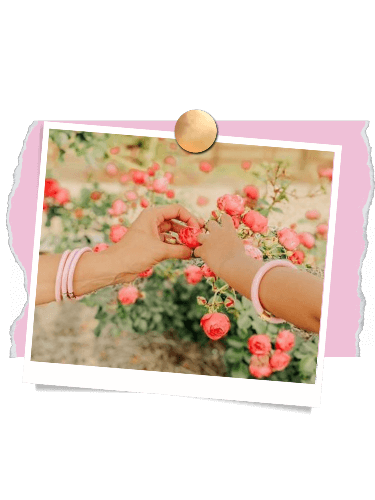Mother and daughter with hands held | BuDhaGirl