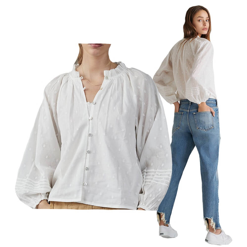 Antonia White Button-down top from Anthropologie | BuDhaGirl