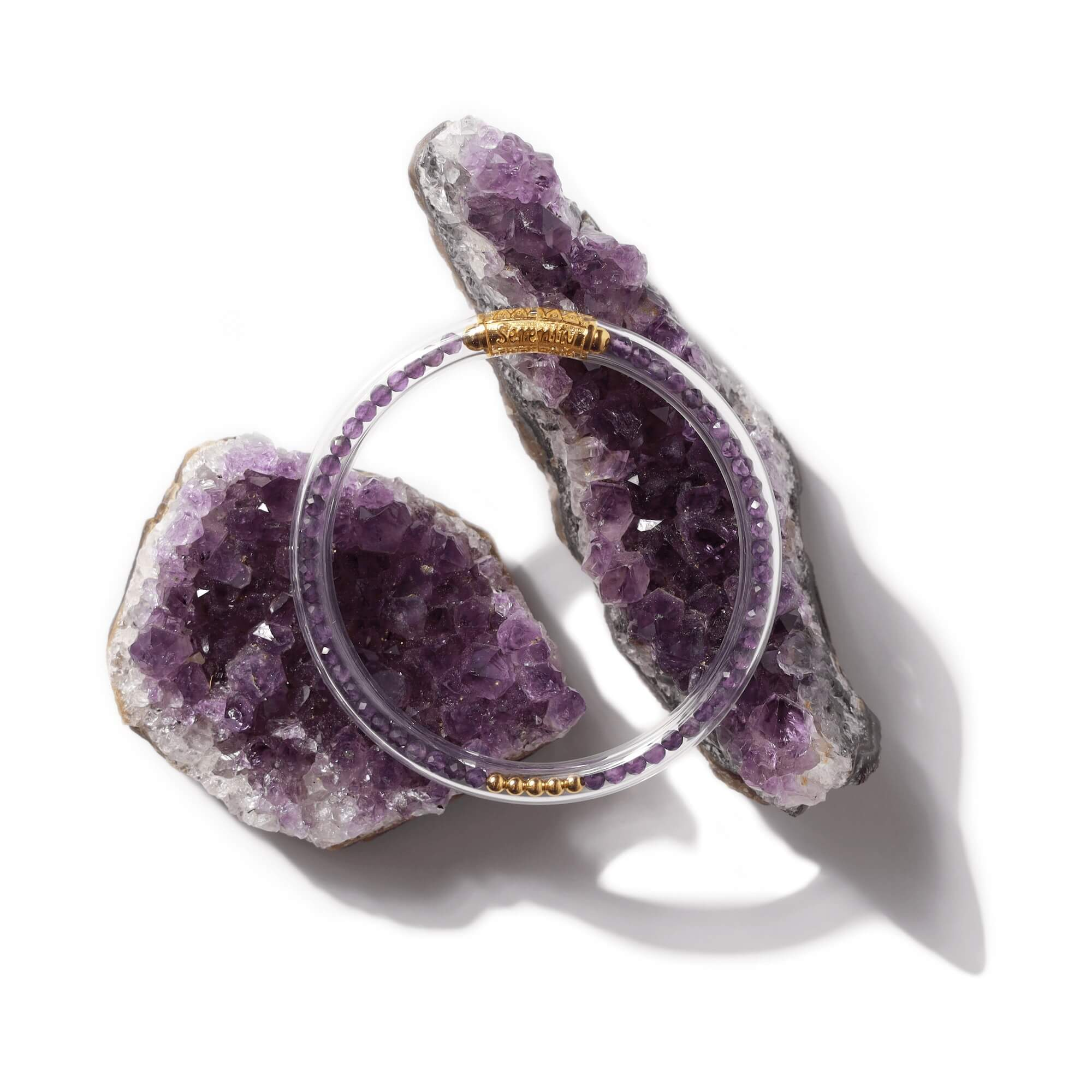 Luxe All Weather Bangles - Amethyst | BuDhaGirl
