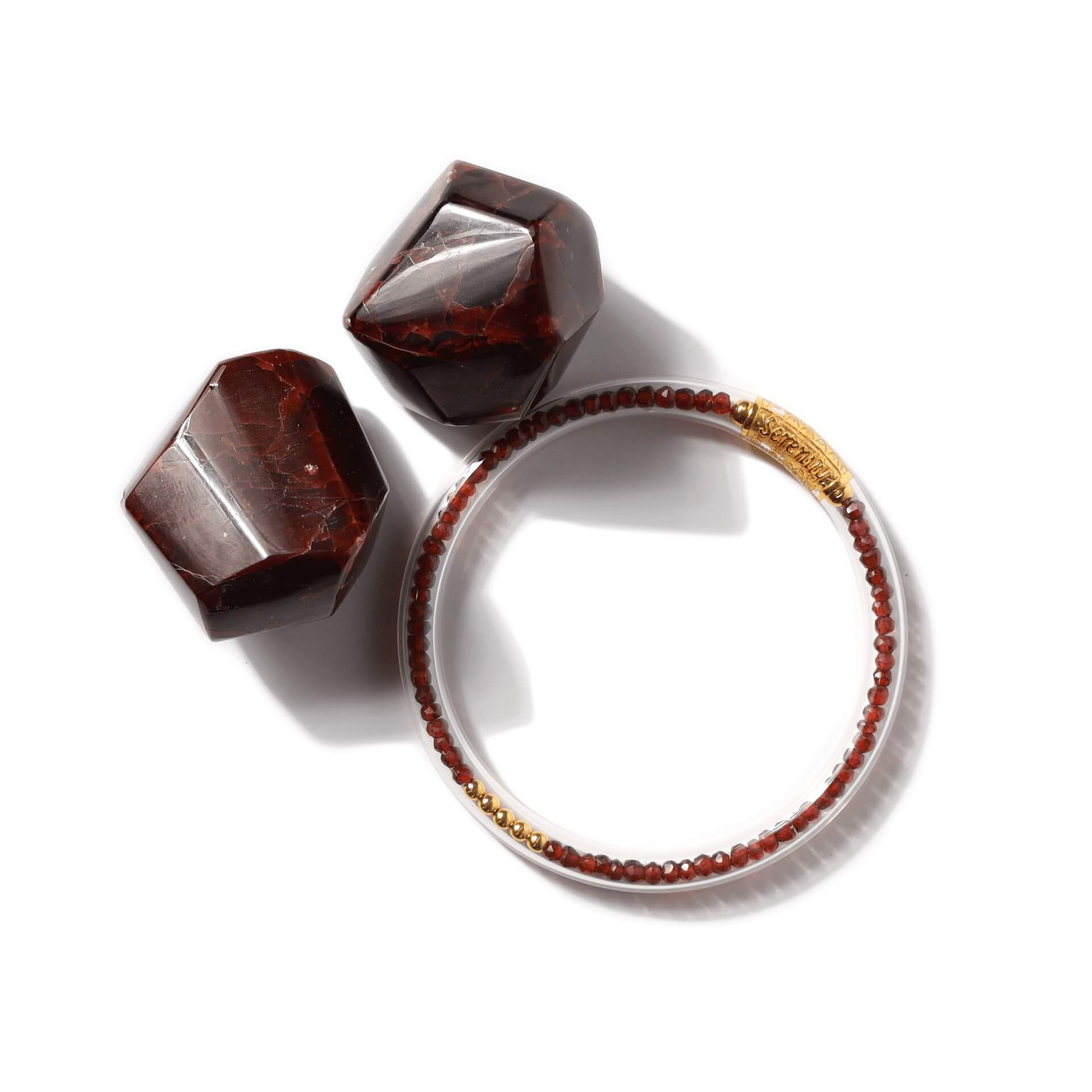 Luxe All Weather Bangles - Red Garnet | BuDhaGirl