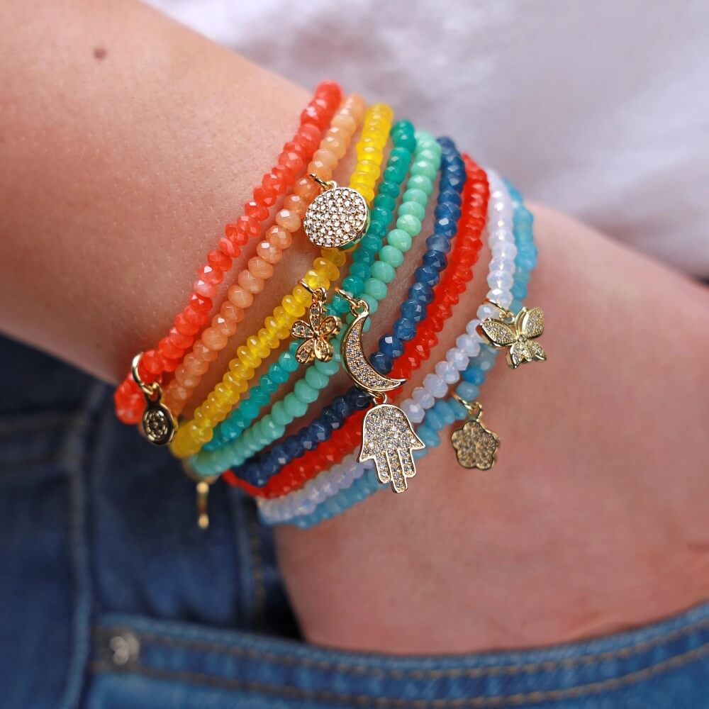Styled image of all colors of Sydney bracelets | BuDhaGirl