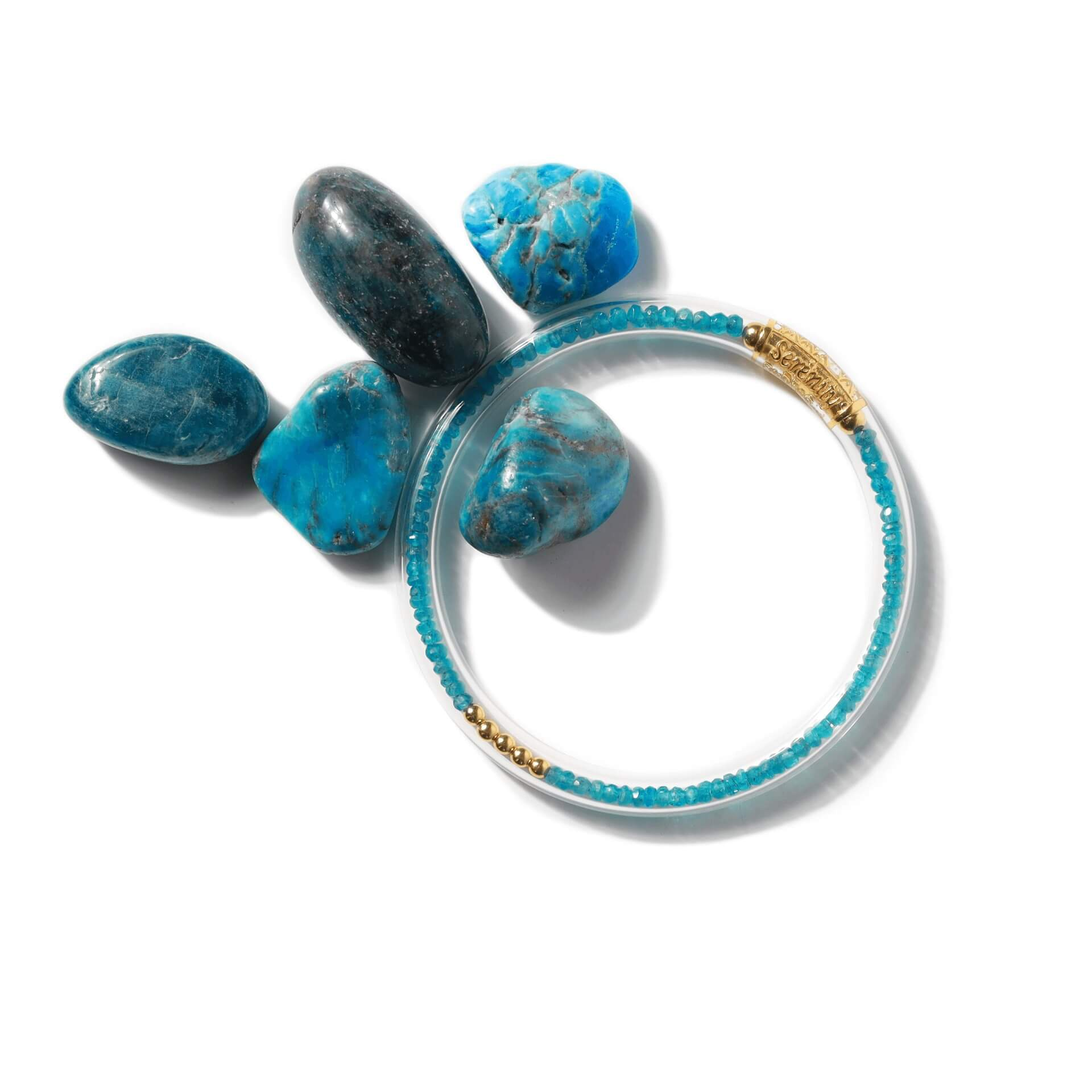 Luxe All Weather Bangles - Apatite | BuDhaGirl