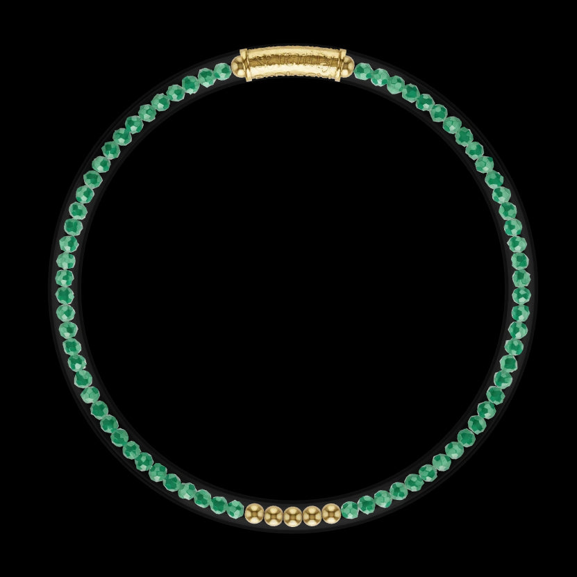 3D Model of Luxe All Weather Bangle - Green Onyx | BuDhaGirl