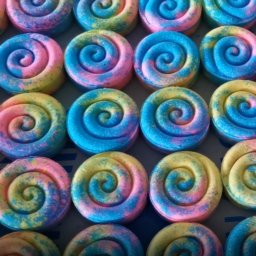 Mini Swirl N Twirl Cookie Bath Bomb