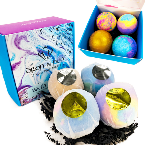 Luxury Bath Bombs Set NEW