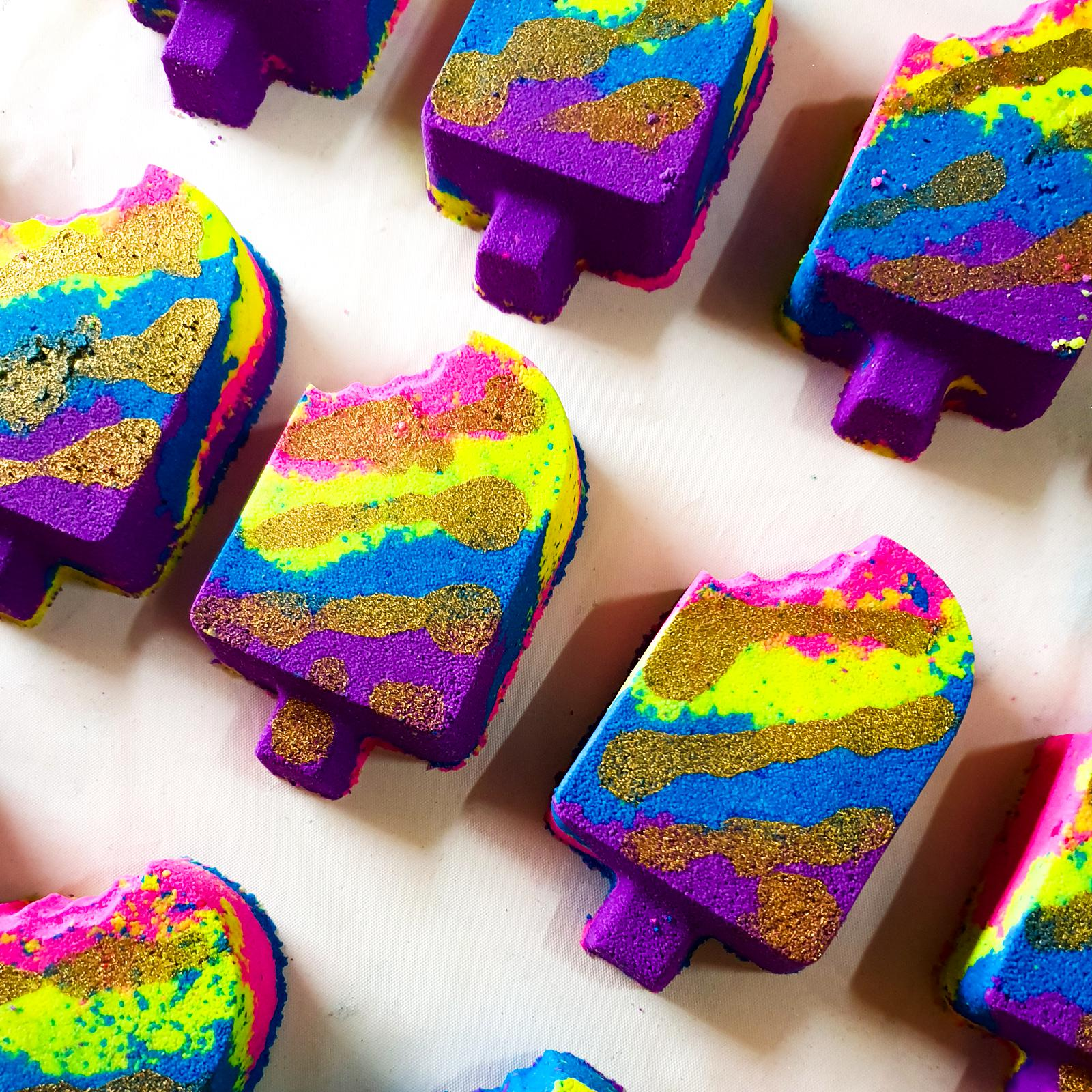Rainbow Unicorn Paddlepop Bath Bomb
