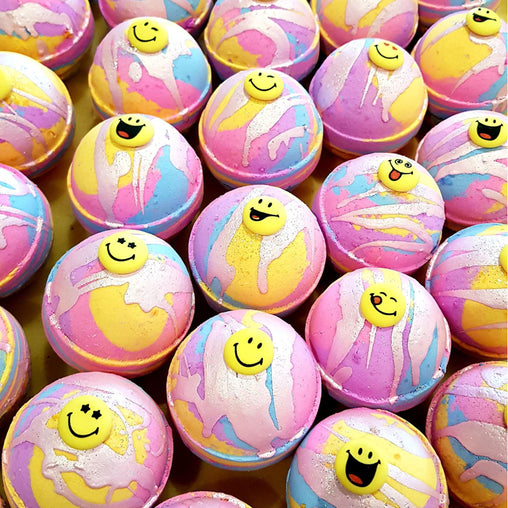 Rainbow Smileys Bath Bomb