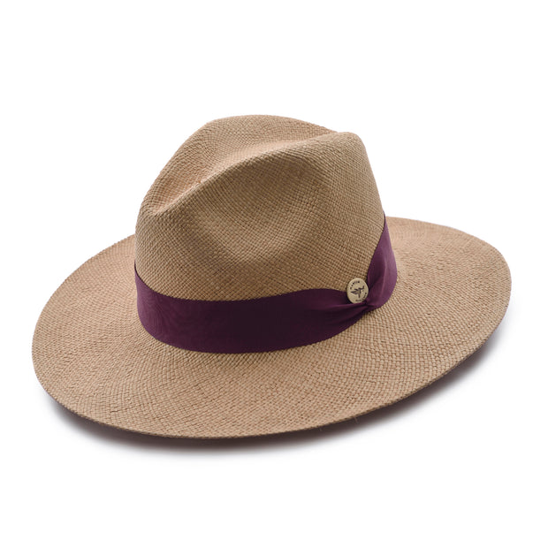 Red Wine Toquilla Straw Hat