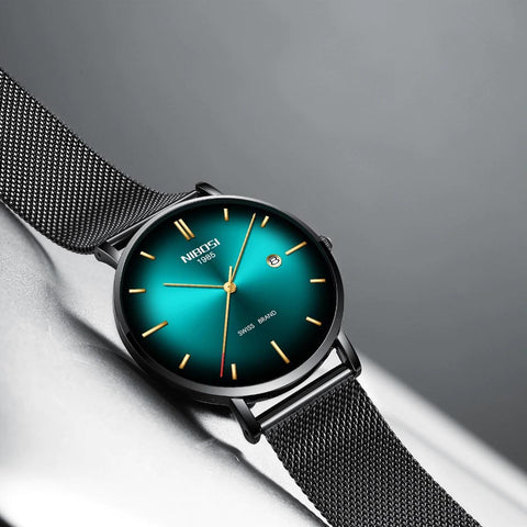 RADIANT quartz watch - cyan