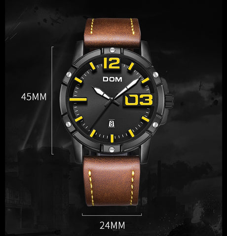 DOMINANT quartz watch - dimensions