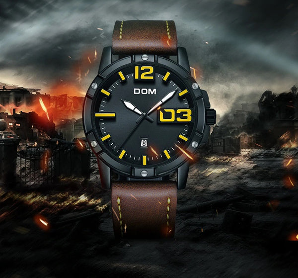 DOMINANT quartz watch - product on stormy background